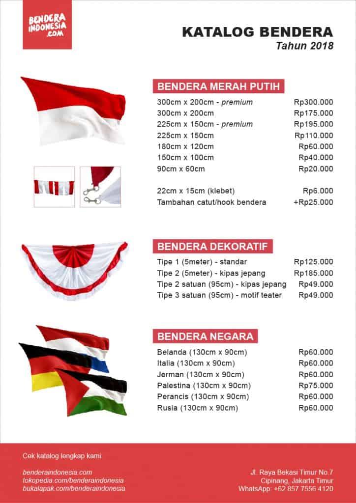 katalog bendera merah putih benderaindonesia dot com