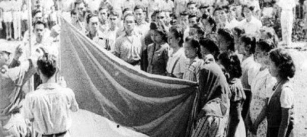pengibar bendera indonesia kemerdekaan 1945